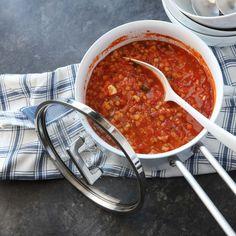 Njut av en god och smakrik måltid som tar dig 15 att tillaga. Lär dig hur man gör Röd linssoppa på ett smart sätt. Alla våra recept är SmartPointsberäknade. Chana Masala, Chili, Salsa, Food And Drink, Veggies, Mexican, Vegetarian, Ethnic Recipes, Enchiladas