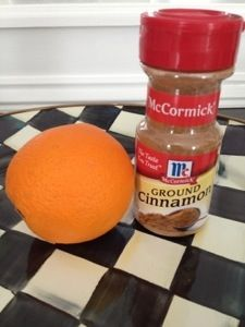 If you want your house to smell heavenly, boil some orange peels with a 1/2 teaspoon of cinnamon on Medium heat. ~Smells good!