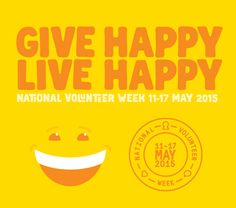 National Volunteer Week 11-17 May 2015 #volunteering