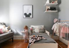 ideas decoración habitación niña. Gris y Rosa