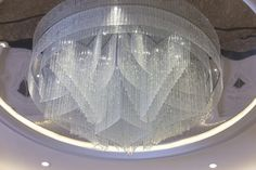 Let´s create an interesting pattern with crystal cut prisms - decorative light fixture for Al Rufaa Celebration Hall Complex in Doha