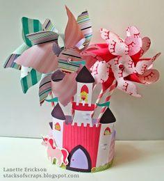 Stacks of Scraps: Pretty Princess Pinwheels