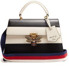 GUCCI Queen Margaret leather shoulder bag #Gucci