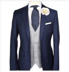 Navy suits/silver waist coats
