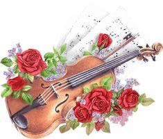 Penny Parker, Music Clipart, Illustration Blume, Music Backgrounds, Decoupage Paper, Decoupage Ideas, Decoupage Vintage, Art Music, Flower Art