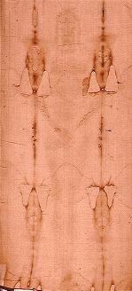 Shroud of Turin - evidence it is authentic; the real shroud of Jesus Christ - BLOOD EVIDENCE (vs PAINT THEORY)  The blood on the Shroud is real, human male blood of the type AB (typed by Dr. Baima Ballone in Turin and confirmed in the U.S.).  This blood type is rare (about 3% of the world population), with the frequency varying from one region to another.