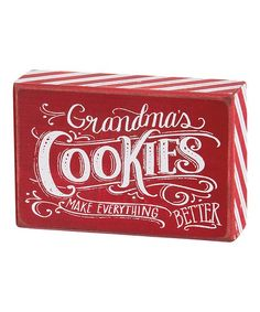 Primitives by Kathy Chalk Grandmas Cookies Box Sign | zulily