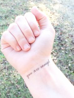 Temporary Tattoo you are enough Inspiring by SymbolicImports