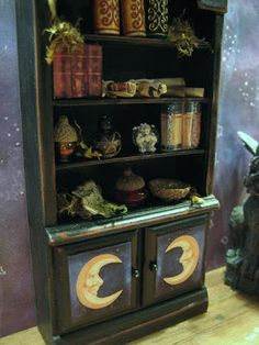 What's Bubbling At Cauldron Craft Miniatures?: Miniature Tutorial: How to Make Your Own Spooky Dollhouse (or just dress it up for Halloween)