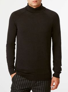 SELECTED HOMME BLACK ROLL NECK