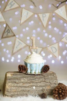 N is one! – Santa Rosa Baby Cake Smash Photographer » Jeneanne Ericsson Photography winter theme cake smash