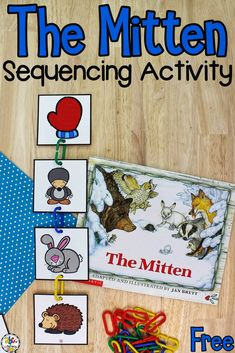 The Mitten Sequencing Activity is a fun, hands-on way for beginning readers to work on sequencing and develop their fine motor skills.