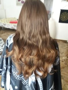 dark blonde hair with synthetic extensions ombre