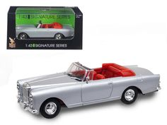 1961 Bentley Continental S2 Park Ward DHC Convertible Silver 1/43 Diecast Car Model by Road Signature