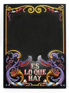 Pizarrón de 50X70 cms. Garage Art, Retro Logos, Vintage Typography, Arte Popular, Pinstriping, Design Reference, Tattoo Studio, Art Boards, Signage