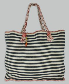 Love these Riviera Totes in 4 colors and 2 styles. Made in India by a Women's Empowerment Group.