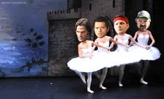 "They're faces are so accurate. Sam is all like, ""Follow me brethren!"" Castiel is like, ""I trust you Sam, but why is this necessary? I don't understand."" Dean is like, ""You guys are lucky I love you"", but on the inside he's like, ""I CAN FINALLY LIVE MY DREAM AS A BALLERINA!!!"" And Bobby is just in the back like, "" Idgits. Lucky they're family or I would kill them."