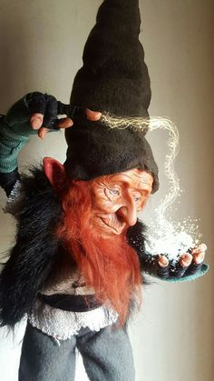 Woodland Creatures, Magical Creatures, Trolls, Dragons, Kobold, Elves And Fairies, Flavio, Fairy Figurines, Clay Dolls