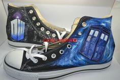 2db97685c4d8 Custom Converse Doctor Who Converse shoes hand painted on Converse all star  shoes sneaker great gift