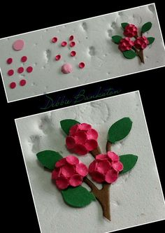 3d Paper Flowers, Hydrangea, Art For Kids, Art Projects, Create, Hole Punch, Cards, Stylus, Art For Toddlers