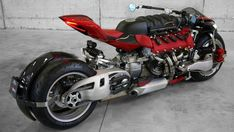 Check out this MONSTER Bike Has a Maserati Engine ▶THATS INSANE! From a wearable jetpack that will turn you into an underwater super hero, To a 4 wheel monster bike powered by a Maserati engine, here are more insane innovations you should know about . 4 Wheels Motorcycle, Moto Bike, Motorcycle Style, Maserati, Bugatti, Concept Motorcycles, Cool Motorcycles, Super Bikes, Moto Pulsar 200