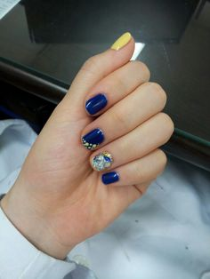 #gel nail#stone#jewel#blue nail#셀프네일#보석