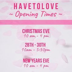 💝 Make sure you know when to get your retail therapy 💝 #havetolove #shopping #boutique #newyear  havetolove-com.myshopify.com/