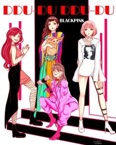 omi on - Kpop Girl Groups, Korean Girl Groups, Kpop Girls, Kpop Anime, Manga Anime, Anime Art, Yg Entertainment, Fan Art, Square Two