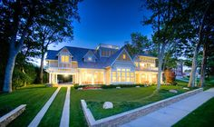 A beautiful, traditional home, built on the lakefront in Harbor Springs, MI. Browse through all of the pictures for even more gorgeous views of the interior.
