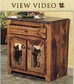 Rustic Furniture with Moose & Bear Designs