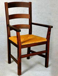 sedia con braccioli rustica - Cerca con Google
