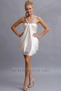 After party: Sheath/Column Straps Taffeta Mini Wedding Dresses...izidresses $144.59