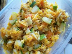 Grenadian saltfish souse, a traditional dish, but can be eaten anytime. Delicious with fried bake or dumpling.