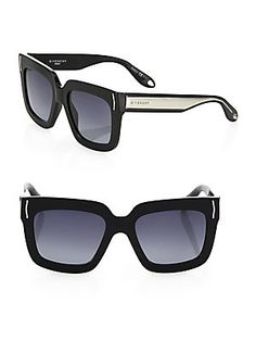 Givenchy 53MM Oversized Square Sunglasses - Black