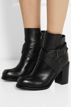 McQ Alexander McQueen  crossover stretch leather boots