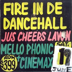 Visual Culture: Jamaican Dancehall Signs From the Collection of Maxine Walters Best Coffee Table Books, Cool Coffee Tables, Rasta Art, Dancehall, Music Images, Typography, Lettering, Green Party, Ska