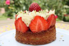 La tarte à la fraise, crème à la pistache by Michalak