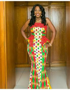 Kente styles is one of the most popular African dressing styles, with its popularity traced back to Ghana.To sum it up, we would prove that the Kente is BAE African Dresses For Women, African Attire, African Wear, African Fashion Dresses, African Women, African Style, African Beauty, African Shirts, African Outfits