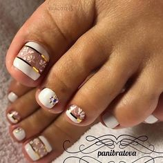Looking for new and creative toe nail designs? Let your pedi always look perfect. We have a collection of wonderful designs for your toe nails that will be appr Pretty Toe Nails, Cute Toe Nails, My Nails, Toe Nail Color, Toe Nail Art, Nail Colors, Nail Nail, Nail Glue, Nail Polish