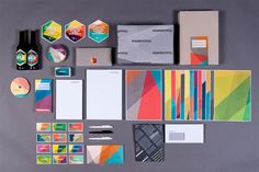 Beautiful #geometric branding for a new printing company