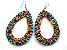 African jewelry African earrings Maasai jewelry Maasai earrings tribal earrings tribal jewelry boho jewelry zulu jewelry ethnic jewellery