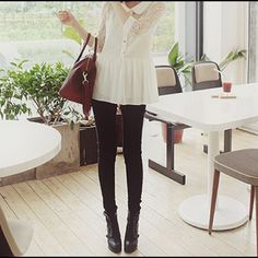 Come on Skinny love Japanese Fashion, Asian Fashion, Sweet Fashion, Sweet Style, My Style, Skinny Love, Ulzzang Fashion, Ulzzang Style, Black Jeans