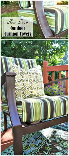 Easy Sew Outdoor Cushion Tutorial - 20 DIY Cushions or DIY Pillow Ideas To Upgrade Your Seating - DIY & Crafts