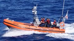 The Coast Guards Over the Horizon-IV boat that is used for pursuit. (U.S. Coast Guard)