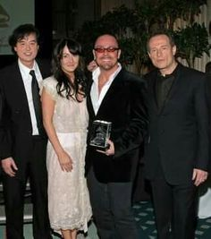 Jimmy Page, Jason Bonham & wife, John Paul Jones