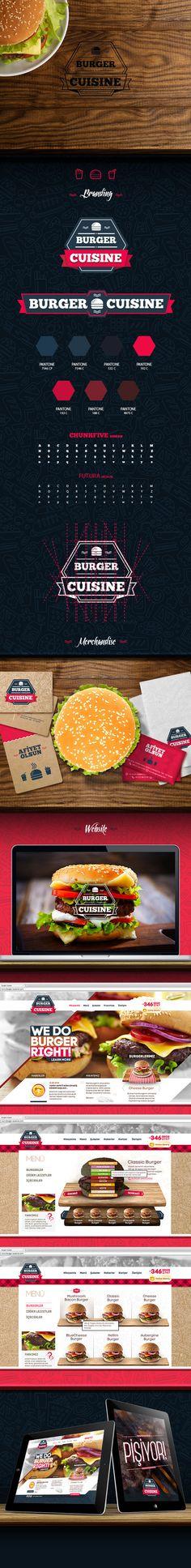 Burger Cuisine by Caner Çolakoğlu, via Behance
