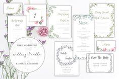Wedding invitations bundle by Crocus Paperi on @creativemarket