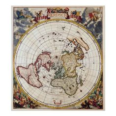 Flat Earth Map 1892 Gleason S New Standard Map Of The World Large