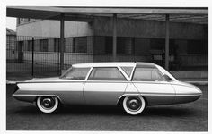 """1959 Ghia Selene by Tom Tjaarda. A very talented man called Tom Tjaarda became one of GHIA's main stylists, and he made a big impression with the 1959 Selene, a sort of super-sleek forward-control """"people carrier'. Its follow-up, the Selene II of 1962, had a central driving seat and two rear seats facing backwards. http://www.carstyling.ru/de/car/1959_ghia_selene/"""