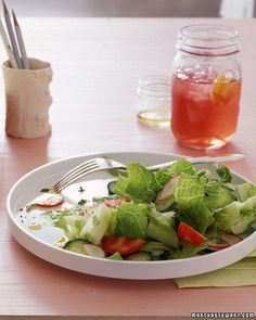 Garden Salad with Yogurt Cheese    Making your own yogurt cheese is easier than you may think; all it takes is a little time. It will be ready in three hours, or you can make it before you go to bed and let it drain overnight.